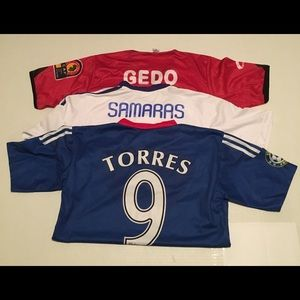 Size Medium Three Soccer Jerseys Torres Gedo